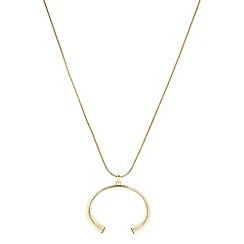 J by Jasper Conran - Designer gold crystal end long pendant