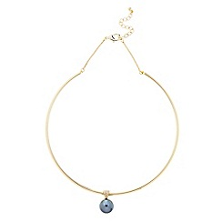 J by Jasper Conran - Designer grey pearl torque necklace