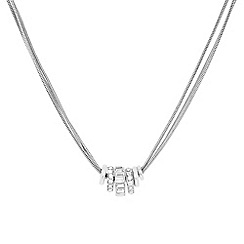 J by Jasper Conran - Designer silver crystal circle rhondel necklace