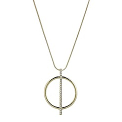J by Jasper Conran - Designer pave stick and circle long pendant necklace