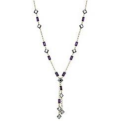 J by Jasper Conran - Designer multi tone stone lariat necklace