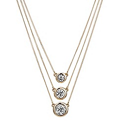 J by Jasper Conran - Designer rose gold multi row crystal necklace