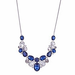 J by Jasper Conran - Designer blue and grey crystal statement necklace