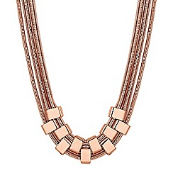 J by Jasper Conran - Designer multi row link necklace