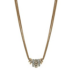 J by Jasper Conran - Designer rose gold rhondel necklace