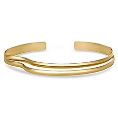 J by Jasper Conran - Designer gold wave collar necklace