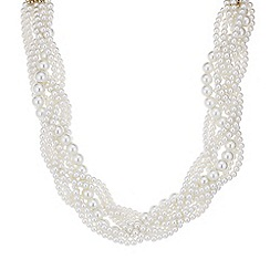 J by Jasper Conran - Designer cream pearl twist necklace