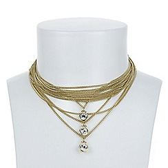 J by Jasper Conran - Designer multi chain choker necklace