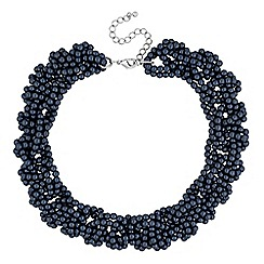 J by Jasper Conran - Designer navy blue beaded twist necklace