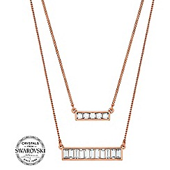 J by Jasper Conran - Designer crystal baguette necklace
