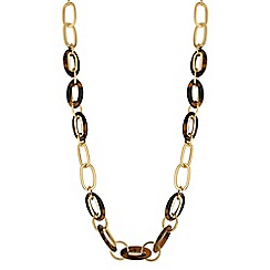 J by Jasper Conran - Tortoise shell oval link necklace