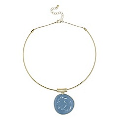 J by Jasper Conran - Marble swirl disc necklace