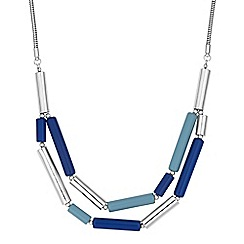 J by Jasper Conran - Blue tube multi row necklace