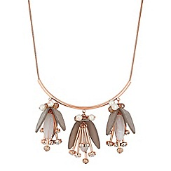 J by Jasper Conran - Flower droplet necklace