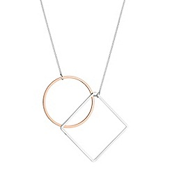 J by Jasper Conran - Designer geometric drop necklace