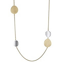 J by Jasper Conran - Designer multi tone pebble long necklace