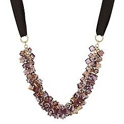 J by Jasper Conran - Designer purple beaded shaker necklace