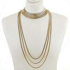 J by Jasper Conran - Designer gold multi row statement necklace