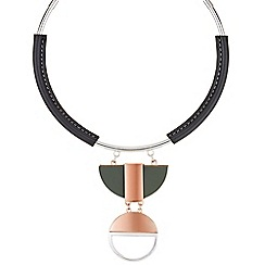 J by Jasper Conran - Designer multi tone geometric necklace
