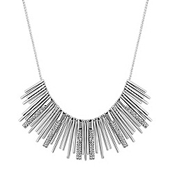 J by Jasper Conran - Designer silver crystal fan necklace