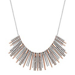 J by Jasper Conran - Designer multi tone crystal fan necklace