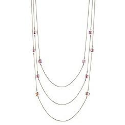 J by Jasper Conran - Designer beaded multi row necklace