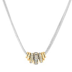 J by Jasper Conran - Designer multi tone crystal charm necklace