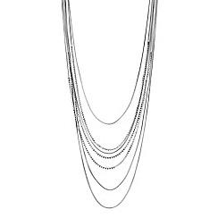 J by Jasper Conran - Designer silver crystal multi row necklace