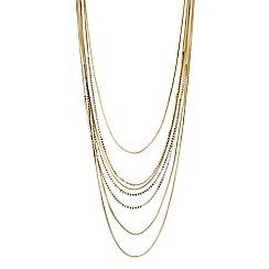 J by Jasper Conran - Designer gold crystal multi row necklace