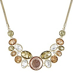 J by Jasper Conran - Designer crystal circle cluster necklace
