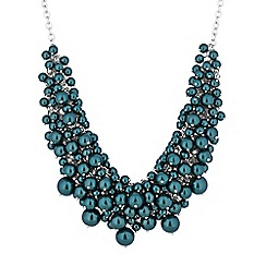J by Jasper Conran - Teal pearl shaker necklace