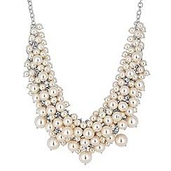 J by Jasper Conran - Cream pearl cluster necklace