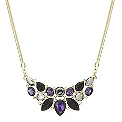J by Jasper Conran - Designer purple crystal multi stone necklace
