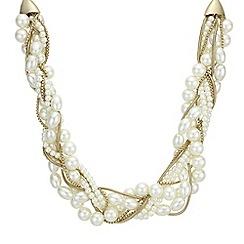 J by Jasper Conran - Designer cream pearl twist necklace