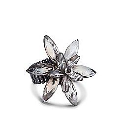 J by Jasper Conran - Designer 3-d floral cluster stone stretch ring
