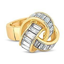 J by Jasper Conran - Designer baguette crystal encased knot ring
