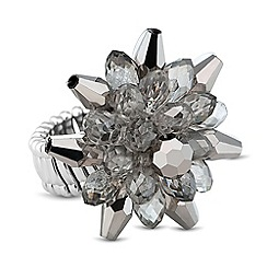 J by Jasper Conran - Designer 3d blue flower stretch ring