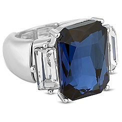 J by Jasper Conran - Designer blue crystal baguette stretch ring