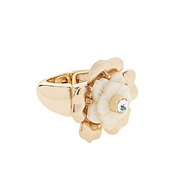 J by Jasper Conran - Designer crystal flower stretch ring