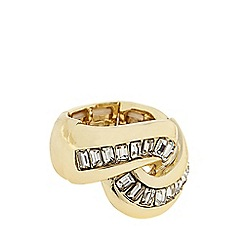 J by Jasper Conran - Designer Gold crystal twist ring