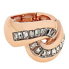 J by Jasper Conran - Designer Rose gold crystal twist ring