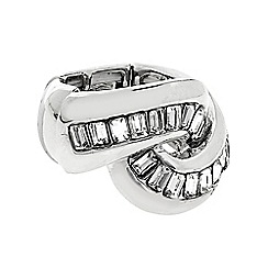 J by Jasper Conran - Designer silver crystal twist ring