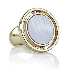 J by Jasper Conran - Designer gold pearl circle ring