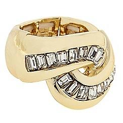 J by Jasper Conran - Designer crystal twist ring
