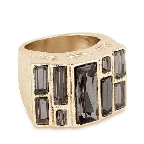 J by Jasper Conran - Cool grey geometric multi stone ring