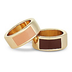 J by Jasper Conran - Designer set of two enamel rings