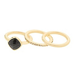 J by Jasper Conran - Designer semi precious effect stacker ring set