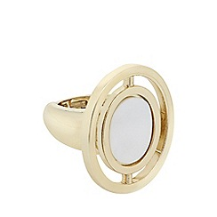 J by Jasper Conran - Designer mother of pearl gold disc ring