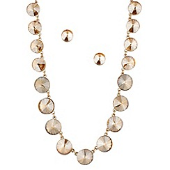 J by Jasper Conran - Designer crystal round stone necklace and earring set