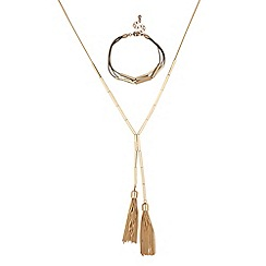 J by Jasper Conran - Designer chain tassel necklace and bracelet set